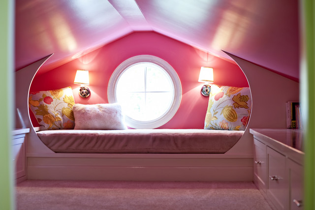 Pink Attic Playroom - traditional - kids - louisville - by Rock ...