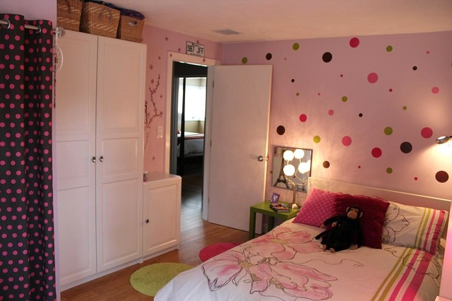 pink polka dot bedroom pink bedroom with polka dots eclectic boston 16751