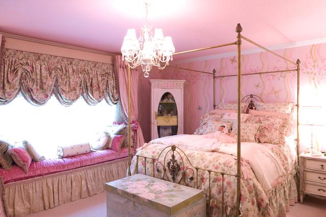 Pink Children's Bedroom traditional-kids