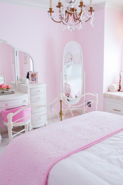 Pink Girls Room traditional kids