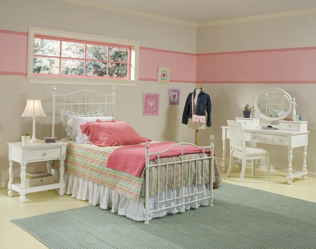 Pink Stripe Teen Room contemporary-kids