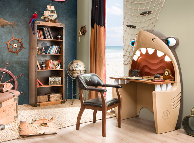 Pirate ship bedroom beach style kids miami by for Houzz kids room