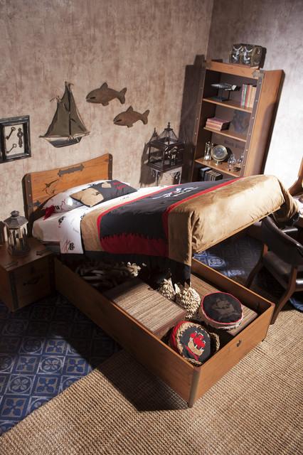 Pirate ship bedroom beach-style-kids