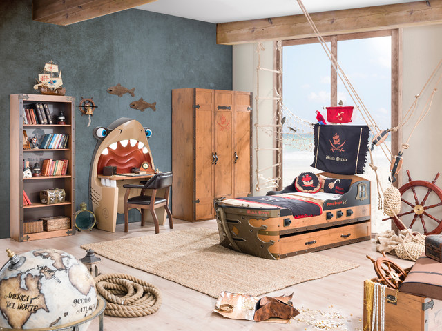 Pirate Ship Bedroom Beach Style Kids Miami By Turbo Beds - Kids pirate bedroom furniture