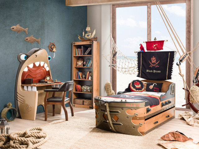 Superbe Pirate Ship Bedroom Beach Style Kids