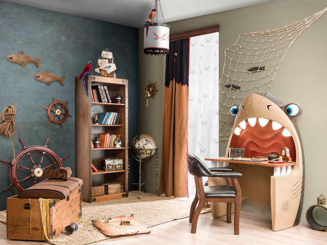 Pirate Ship Bedroom Beach Style Kids
