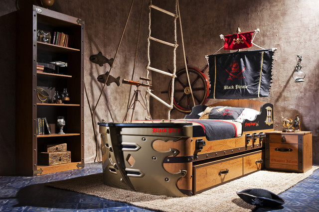 Pirate ship bedroom beach-style-kids