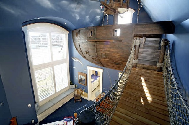 Pirate Ship Room & Other Fun Things eclectic kids