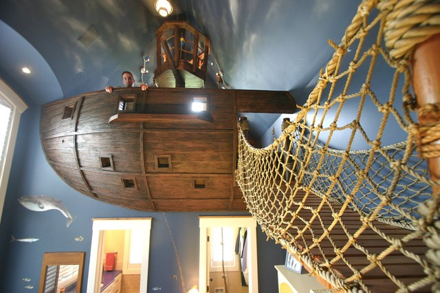 pirate ship room other fun things eclectic kids minneapolis rh houzz com Pirate Room Decor Pirate Theme Room Decorations