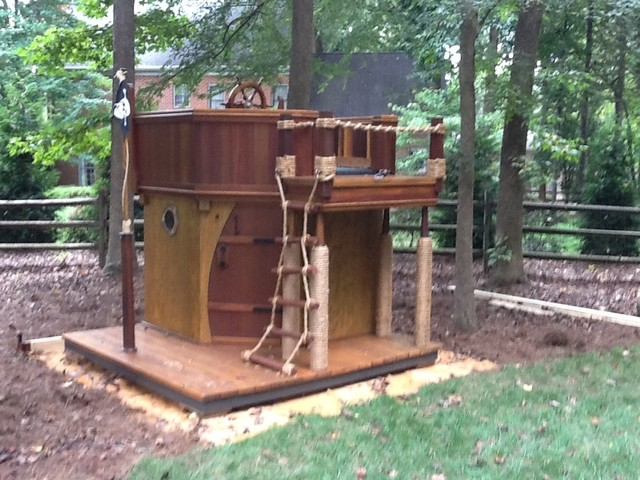 Outdoor Playhouse And Pirate Ship 18