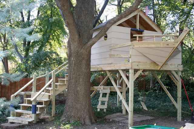 Pirate Ship Tree House Traditional Kids Kansas City