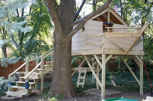 Pirate Ship Tree House Traditional Kids Kansas City