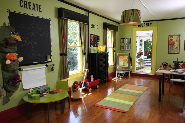 playroom eclectic-kids
