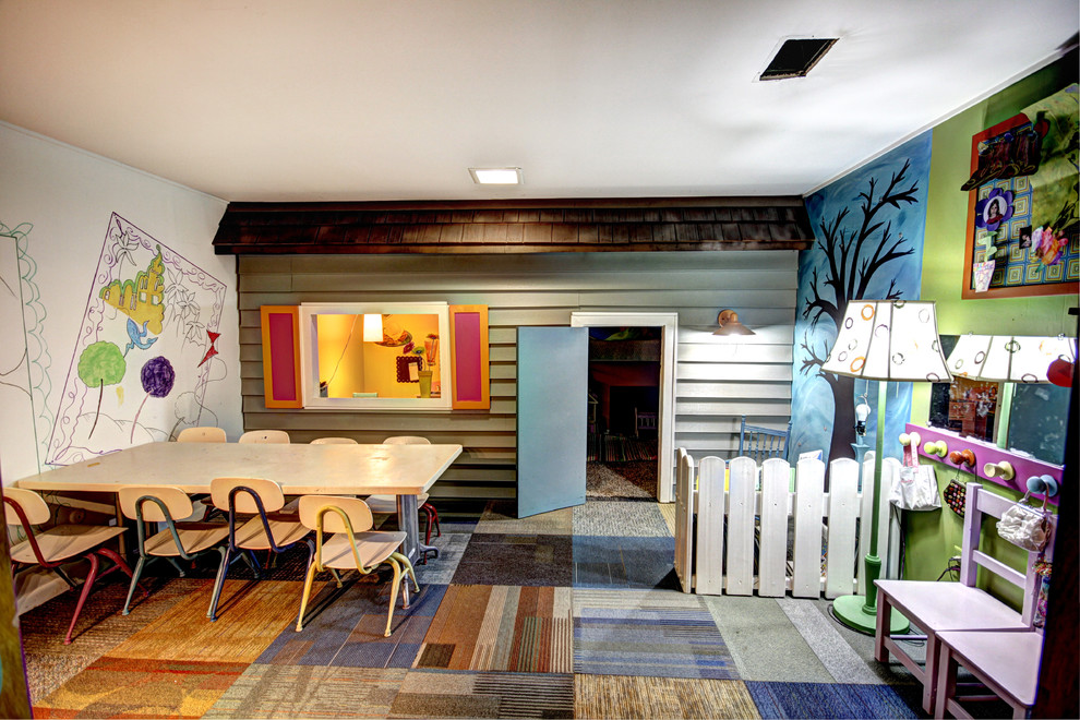 Example of an eclectic playroom design in Grand Rapids
