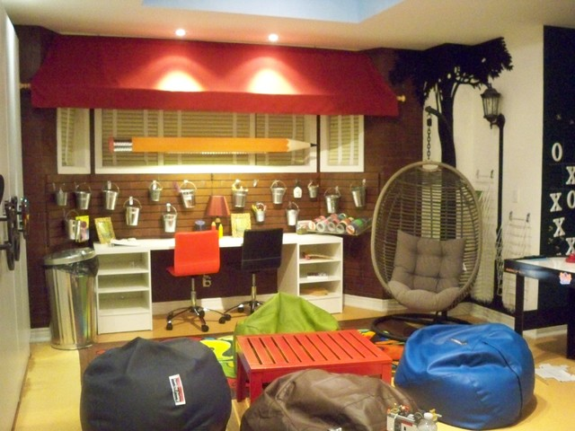 Playroom for tweens and teens eclectic kids toronto for Teenage playroom design ideas