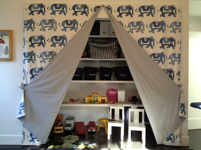 Playroom Storage transitional-kids