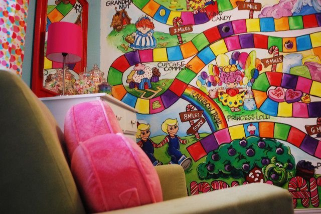 poppie s candy land room modern kids dallas candy land mural kix and poppie pinterest