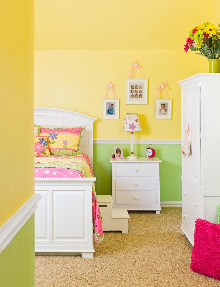 Trendy girl kids' room photo in Houston