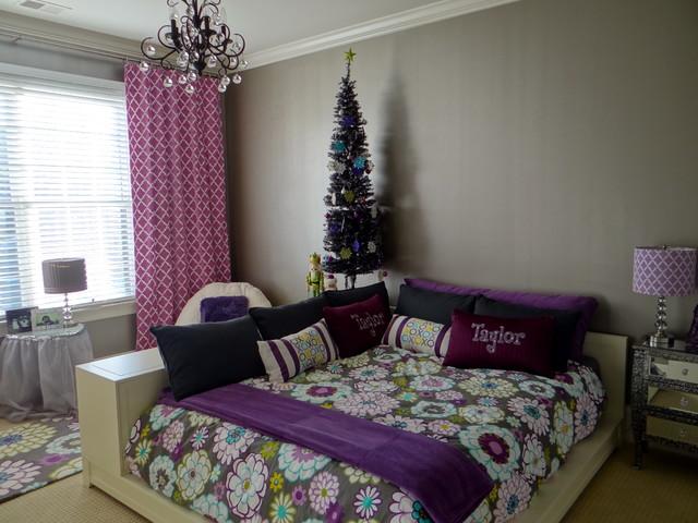 preteen glam bedroom modern kids charlotte by whirlygig designs