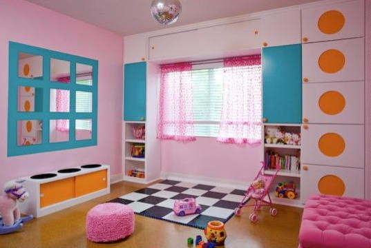 Pretty in Pink Playroom contemporary kids