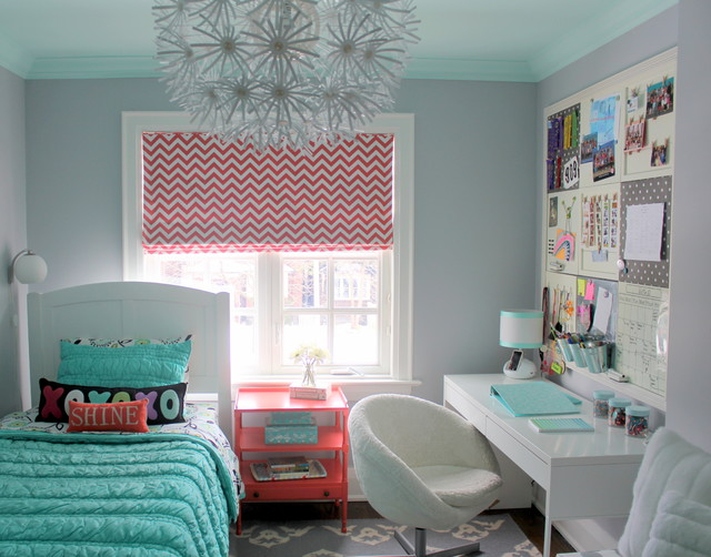 pretty tween bedroom transitional kids toronto by sarah gunn interior stylist. Black Bedroom Furniture Sets. Home Design Ideas