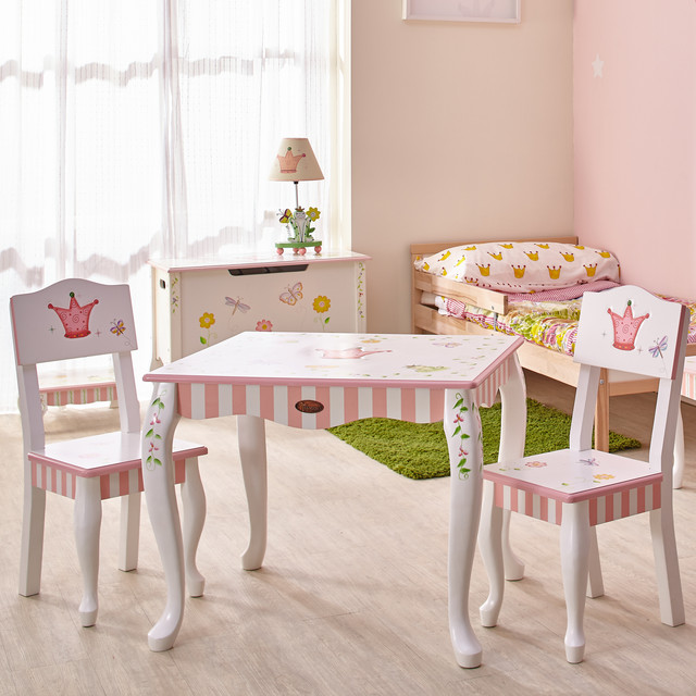 Enjoyable Princess Frog Table Set Of 2 Chairs Transitional Pdpeps Interior Chair Design Pdpepsorg