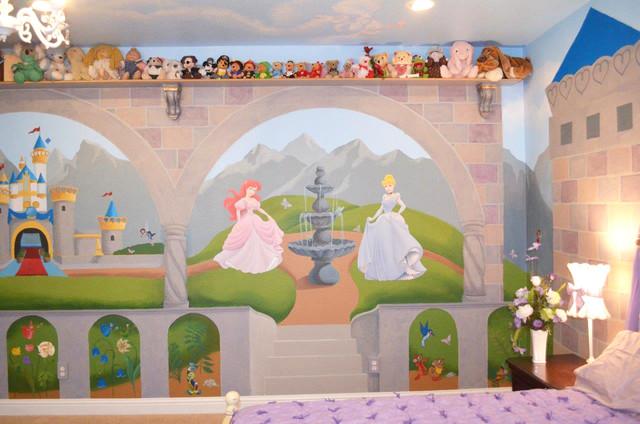 Princess Nursery Bedroom traditional-kids