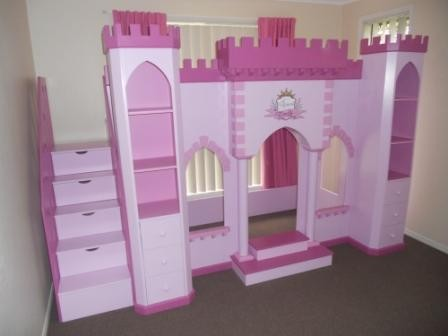 Princess Palace Castle Playhouse Loft Bed with Staircase - By ...
