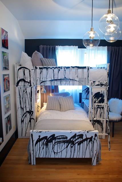 Punk Rock Bedroom Contemporary Kids Los Angeles By Star Michael Interior Design Houzz
