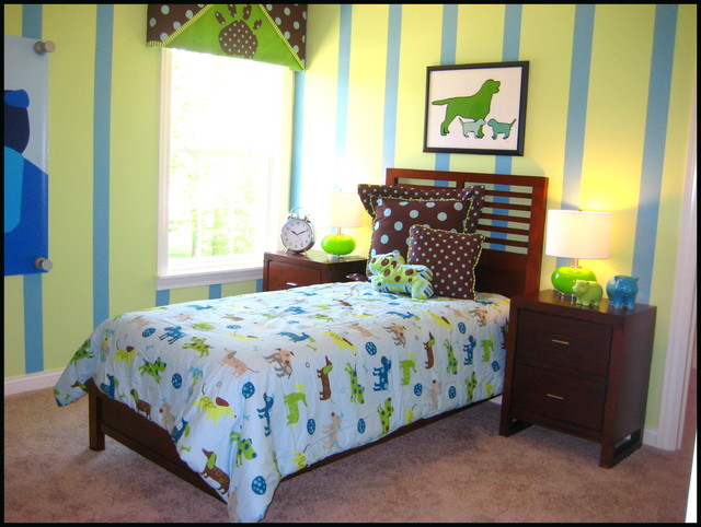 puppy dog bedroom eclectic kids