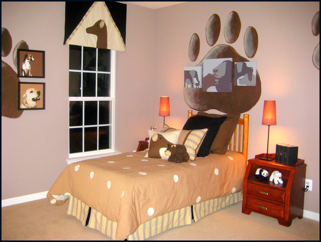 Puppy Dog Boyu0027s Room American Traditional Kids