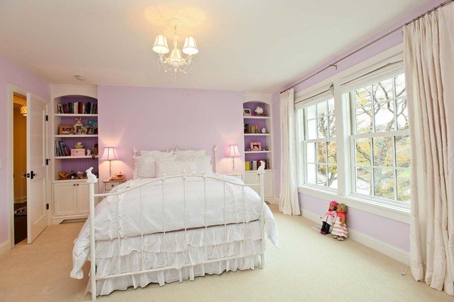 Purple Bedroom traditional-kids