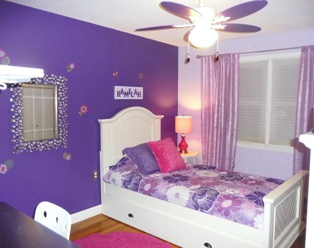 Purple Girls Bedroom 1 - Modern - Kids - Boston - by Denyne Designs