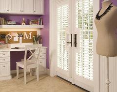 Purple Teen Girl's Bedroom traditional-kids