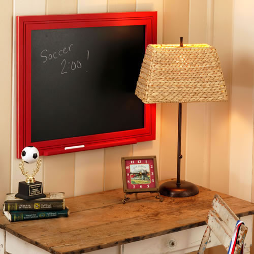 Red Beadboard at Rosenberryrooms eclectic-kids