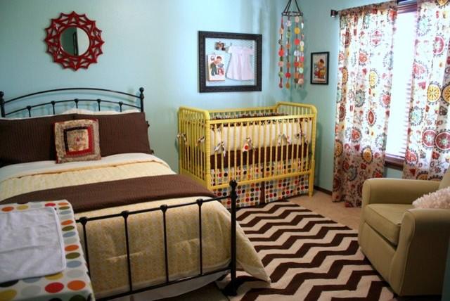 Retro Girl's Nursery eclectic-kids