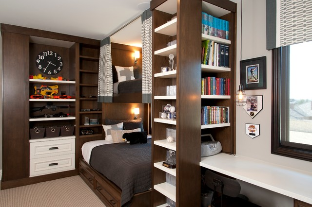 Robeson Design Boys Room Storage Solutions - Transitional - Kids