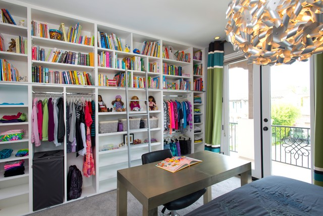Robeson Design Girls Bedroom Closet Storage Ideas