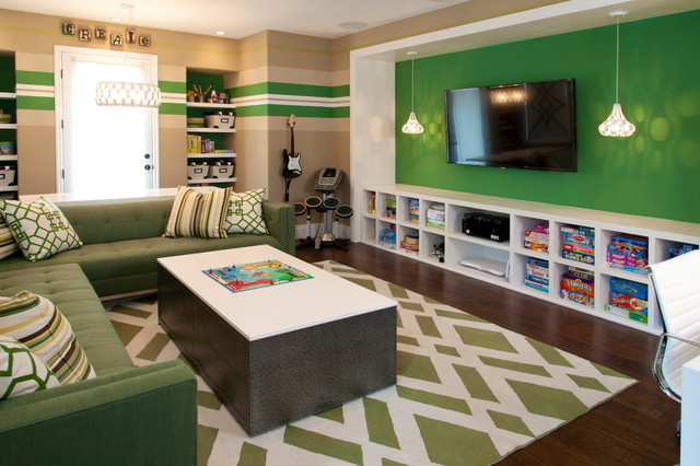 Robeson design kids bonus room contemporary kids san for Teenage playroom design ideas