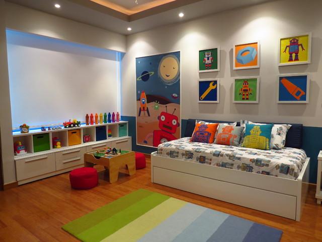 Robot toddler room - Houzz dormitorios ...