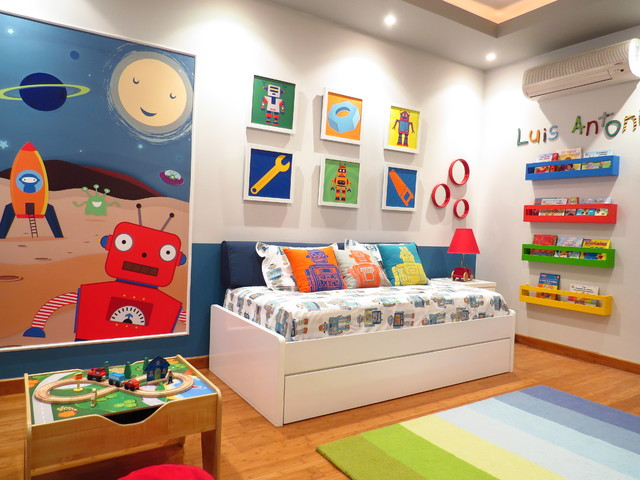 Robot Toddler room contemporary kids. Robot Toddler room