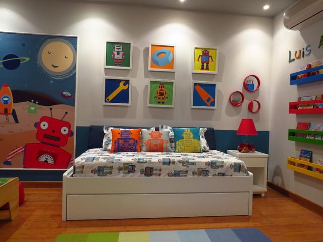 Robot toddler room for Robot baby room decor