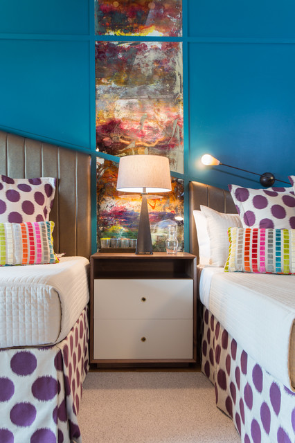 Inspiration for a contemporary kids' room remodel in New York