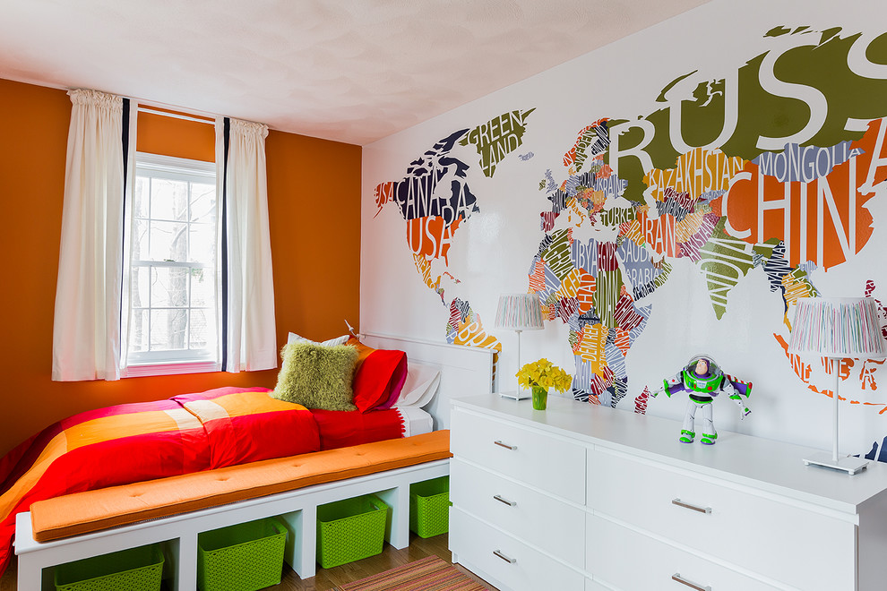 Inspiration for a contemporary boy kids' room remodel in Boston