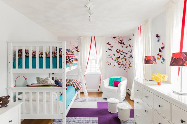 Example Of A Trendy Girl Kidsu0027 Room Design In Boston