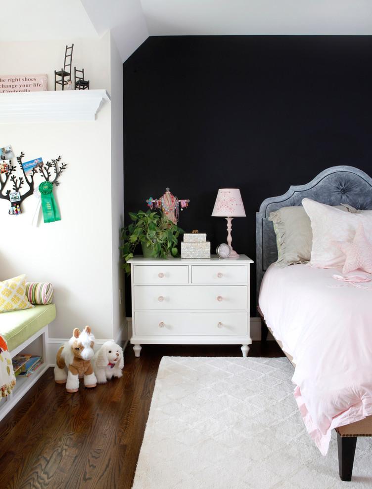 Kids' room - traditional girl kids' room idea in New York