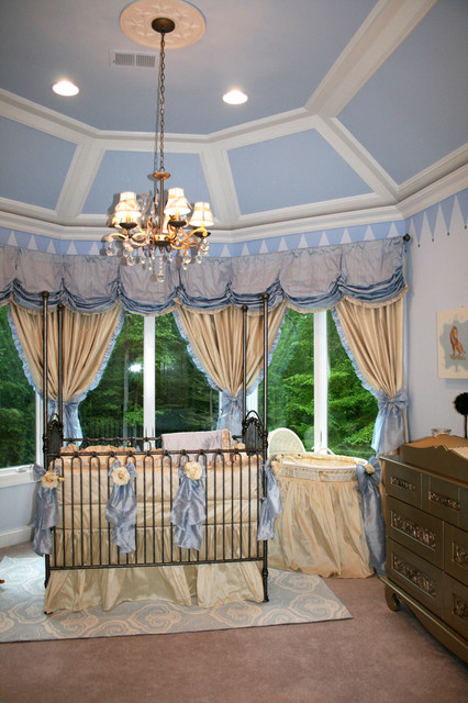 Royal Prince Nursery In Baby Blue And Silver Traditional