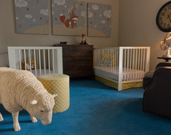 Rustic Modern Nursery in La Grange, a suburb of Chicago contemporary-kids