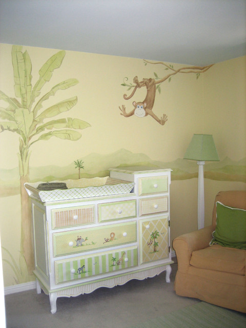 Safari Baby Nursery contemporary kids