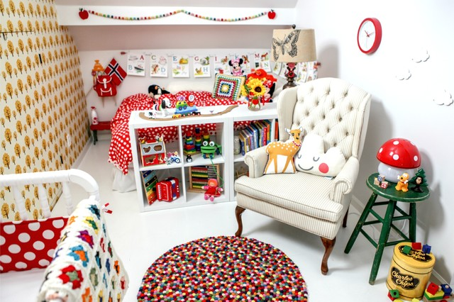 Scandinavian retro nursery playroom skandinavisch kinderzimmer las vegas von tiny - Retro kinderzimmer ...